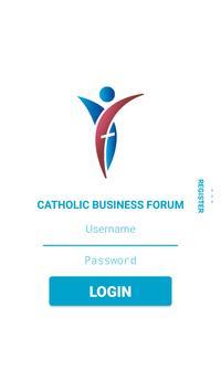 Catholic Business Forum poster
