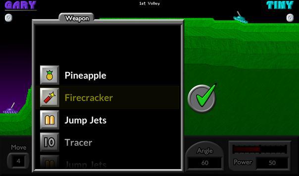 Pocket Tanks apk स्क्रीनशॉट