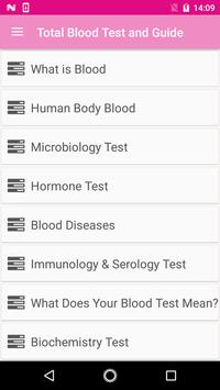 Total Blood Test and  Guide poster