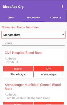 BloodApp Org screenshot 4