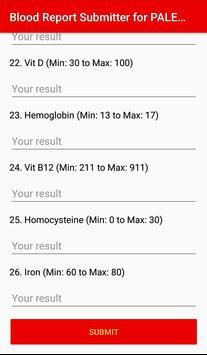 Paleo Blood Report Submitter apk screenshot