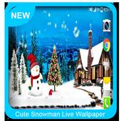 Cute Snowman Live Wallpaper HD icon