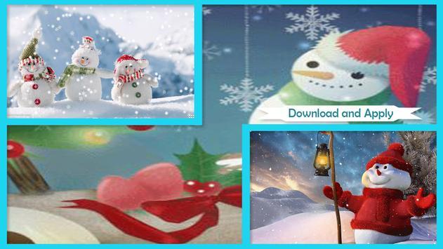 Cute Snowman Live Wallpaper HD screenshot 1