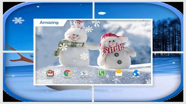 Cute Snowman Live Wallpaper HD apk screenshot