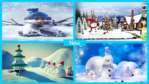 Cute Snowman Live Wallpaper HD screenshot 4