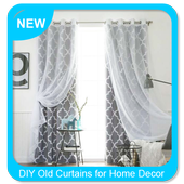 DIY Old Curtains for Home Decor icon