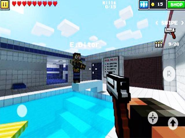 block clans pixel world gun apk android