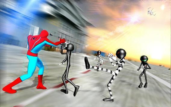 Superhero vs Stickman Navy Battle poster