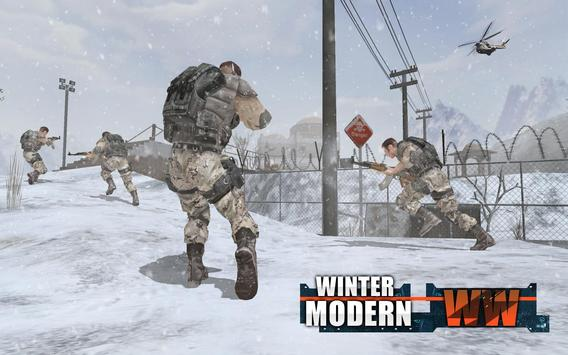 Rules of Modern World War Winter FPS Shooting Game poster