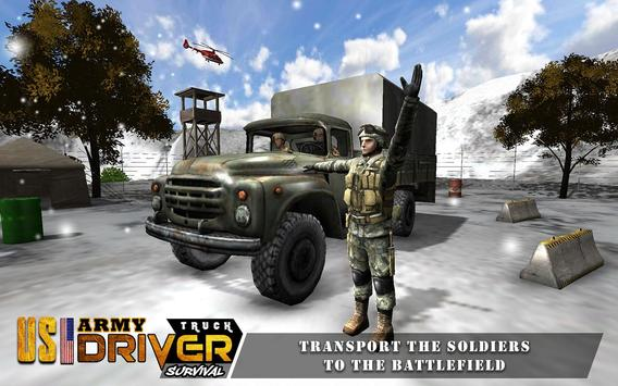 US Army Truck Offroad Driving poster