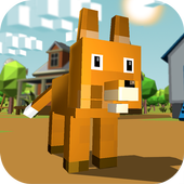 Blocky Fox Simulator 3D icon