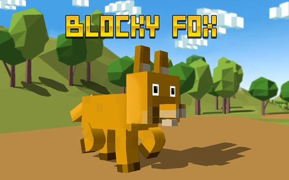 Blocky Fox Simulator 3D apk screenshot