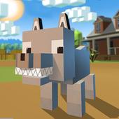 Blocky Wolf Simulator icon