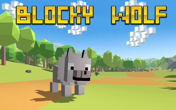 Blocky Wolf Simulator apk screenshot