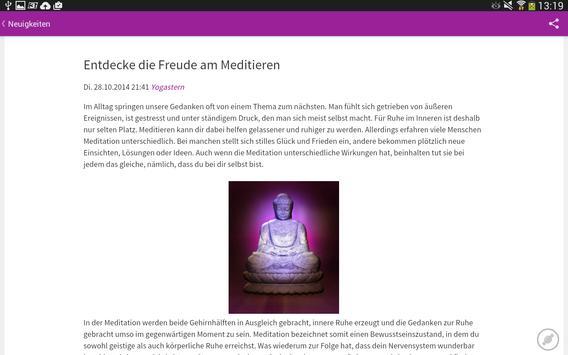 Yoga News apk screenshot