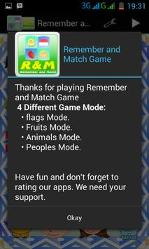 Remember and Match Game poster