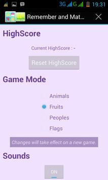 Remember and Match Game screenshot 1