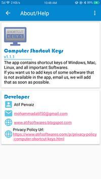 Computer Shortcut Keys screenshot 7