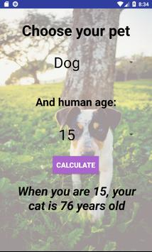 Cat And Dog Age Calculator apk screenshot