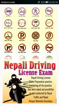 Nepal Driving License poster