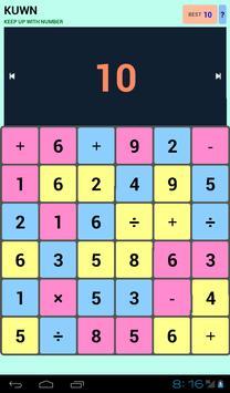 KUWN - Keep Up With Number apk screenshot