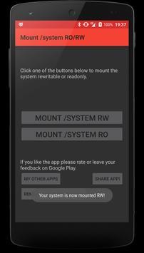 Mount /system RO/RW screenshot 1