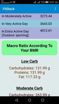 FitStack: BMR and BMI Calculator apk screenshot