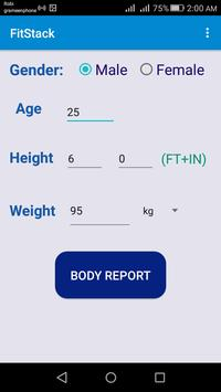 FitStack: BMR and BMI Calculator poster