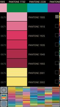 Pantone colors simple catalog poster