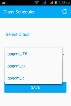 Class Scheduler apk screenshot