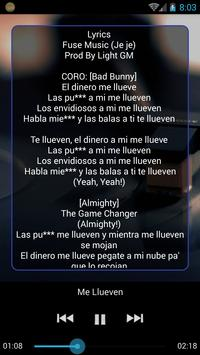Bad Bunny Music & Lyric apk screenshot