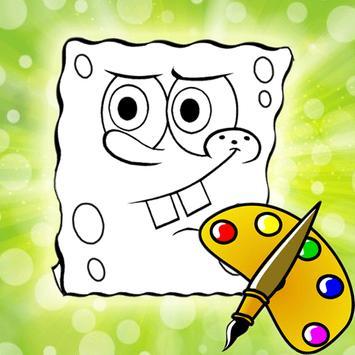 Coloring Book Kids Sponge poster