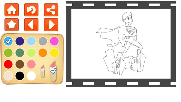 Superhero Power Coloring Book Apk Screenshot