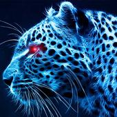 blue cheetah wallpaper icon