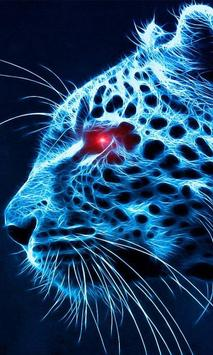 blue cheetah wallpaper poster