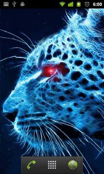 blue cheetah wallpaper screenshot 1