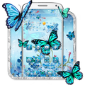 Blue Cherry Butterfly Theme