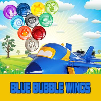 Blue Bubble Wings free poster