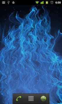 blue flame live wallpaper apk screenshot