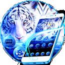 APK Tema Blue White Tiger