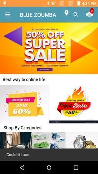 BlueZoumba Online Store app poster
