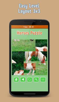 Puzzle Game - Horses, mares and foals apk screenshot