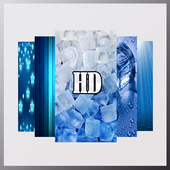 Blue And White HD Wallpaper icon