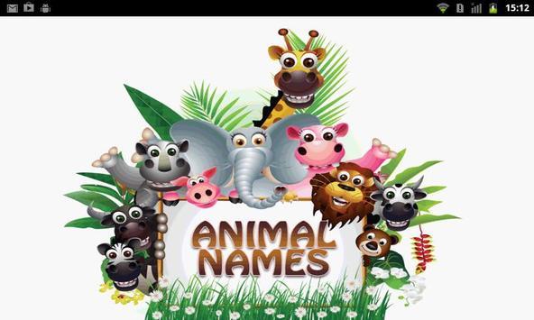 Animal Name FlashCard poster
