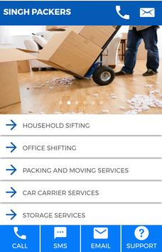 Packers And Movers Booking App poster