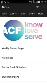 Austin Christian Fellowship poster