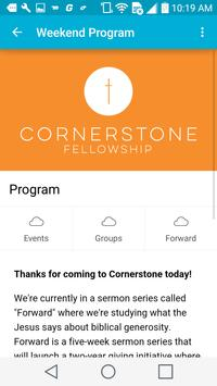 Cornerstone Fellowship App screenshot 2