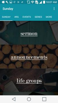 Cottonwood Creek Church poster