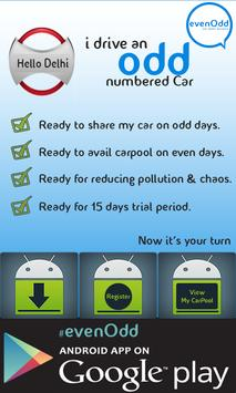evenOdd.. The CarPool Club apk screenshot