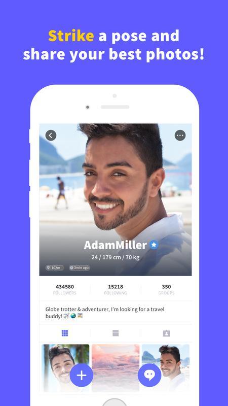 The description Blued Lite -- Gay Chat & Social Apk